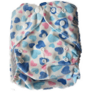 BABY CHOICE Printed AIO Cloth Diaper - Boy Heart