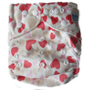 BABY CHOICE Printed AIO Cloth Diaper - Girl Heart