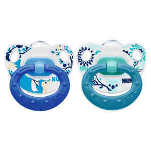 NUK Printed Silicone Soother S1 2'S