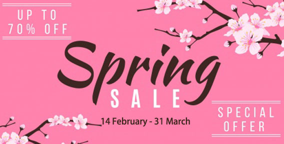 SPRING SALE 2020 - SHOP NOW!